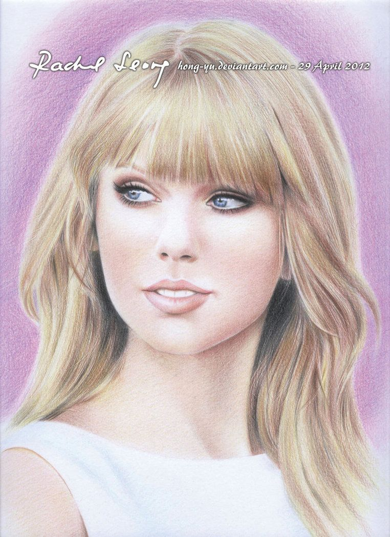 amazing colored pencil drawing of Taylor Swift | Art | Pinterest ...