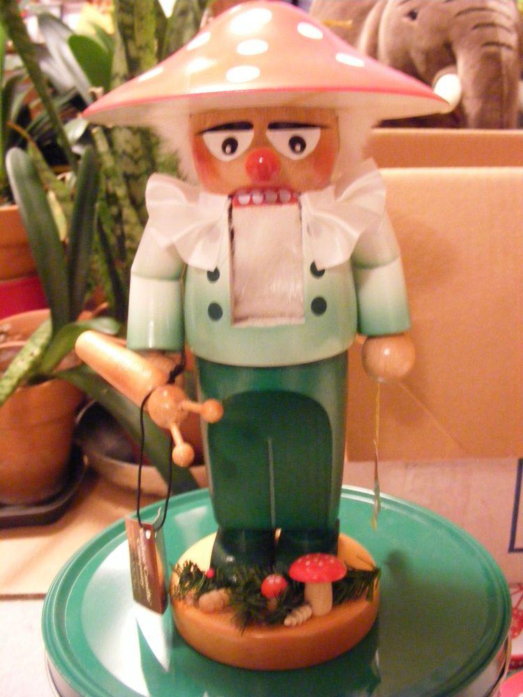 Chubby mushroom man nutcracker