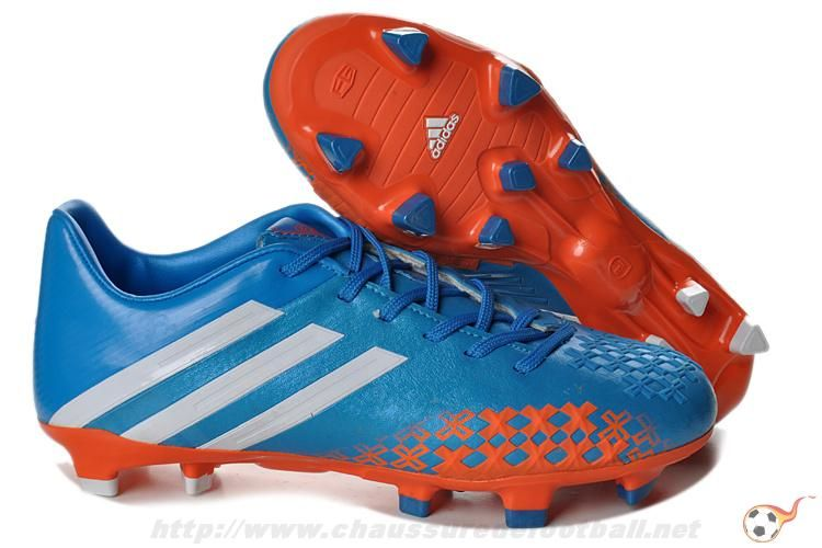 authentic quality where to buy hot sale online Chaussures foot adidas predator lz TRX FG Bleu Rouge Blanc ...