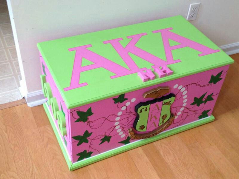 aka chest | AKA Crafts | Pinterest | Alpha kappa alpha, Kappa and ...