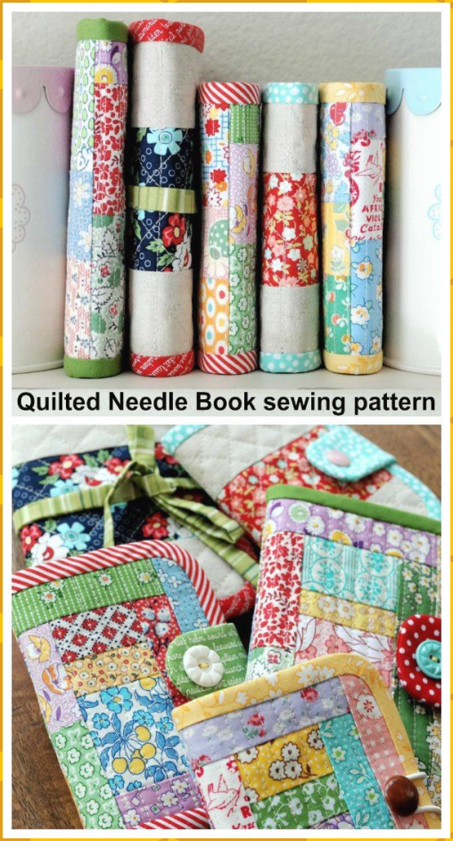 Cute sewing pattern for a needle book to sew, storage for pins and needles, gift idea #Cute #sewing #pattern #for #needle #book #sew, #storage #for #pins #and #needles, #gift #idea