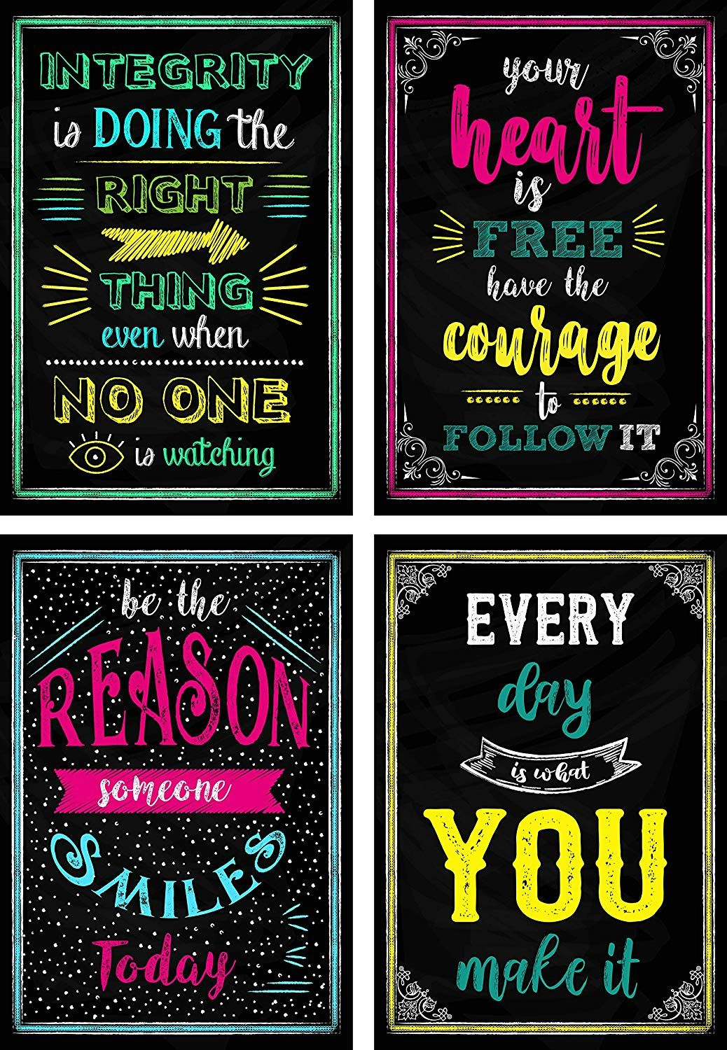 Amazon Com Motivational Posters For Classroom Office Decorations Inspirational Quote Wa Inspirational Quotes Wall Art Wall Art Quotes Motivational Posters