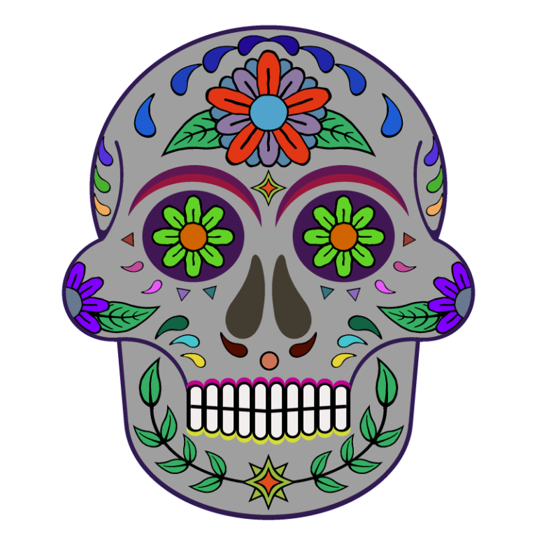 Day Of The Dead 800 X 800 Png Transparent Sugar Skull Day Of The Dead Skull