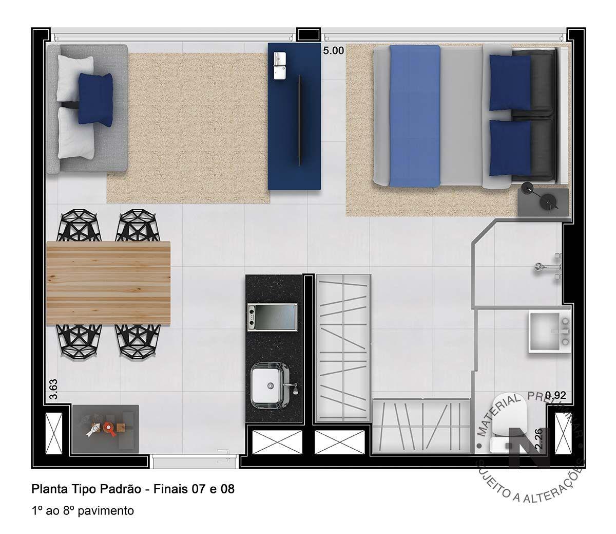 Vitacon nova higien polis room layout dise o casas for Diseno de apartamento rectangular