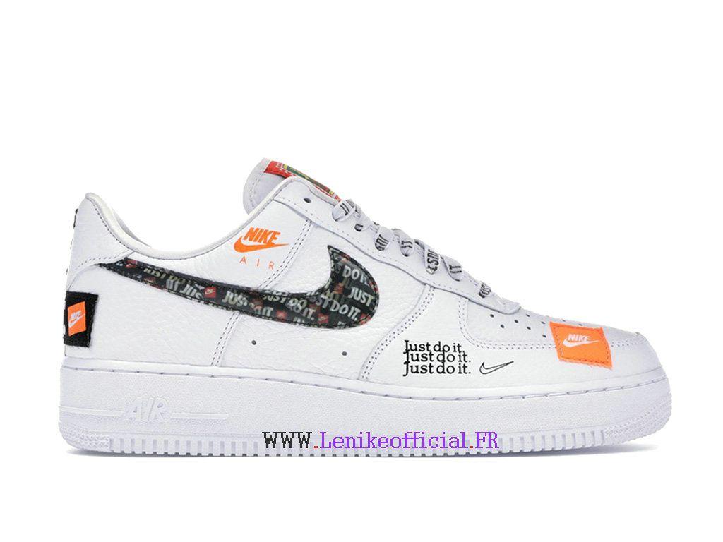 Nike Air Force 1 Just Do It AF1 White Black Orange Men ́s ...