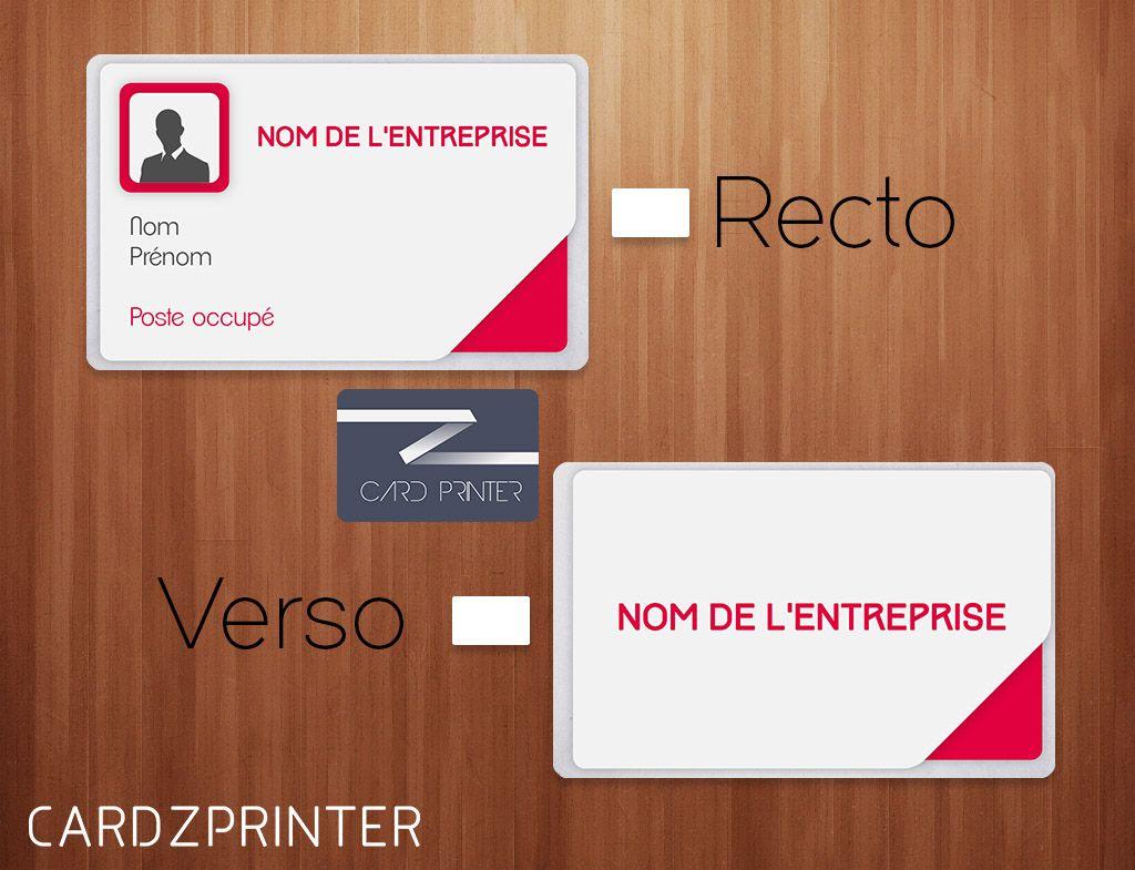 Modele Iustus Fushia De Badge D Identification Aux Formats Carte Bancaire Sur Carte Plastique A L Unite Entierement Per Tech Company Logos Company Logo Badge