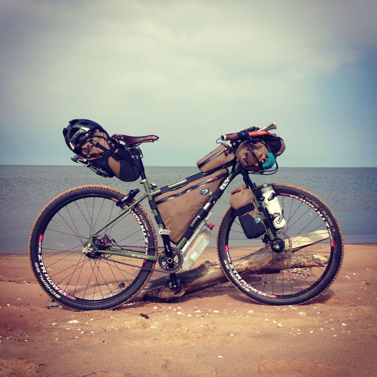 My Surly Ogre In Full Travel Mode With Rohloff Hub Bike Trips Bike Camping Touring Bicycles