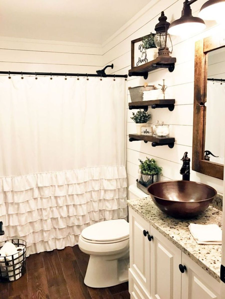 Farmhouse Small Bathroom Remodel And Decor Ideas 38 With Images