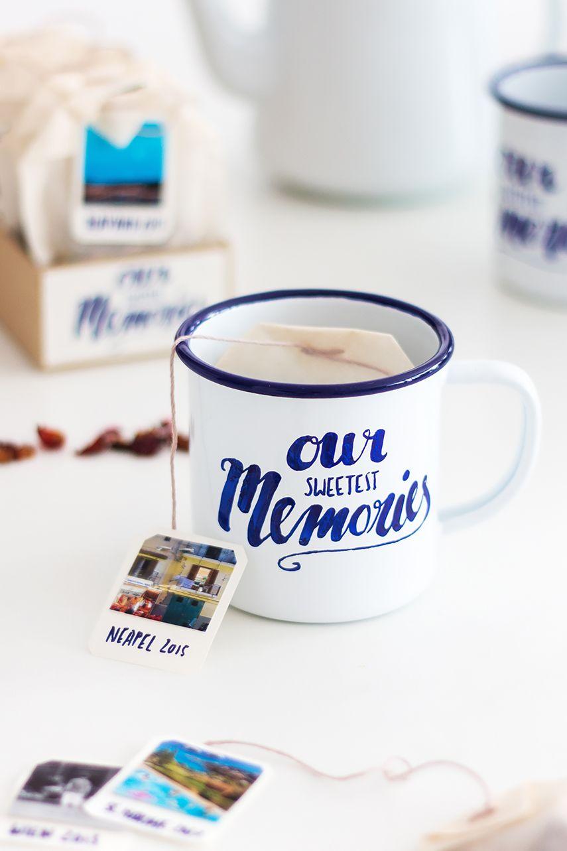 DIY Tasse und Teebeutel als Foto-Geschenk #fotogeschenk