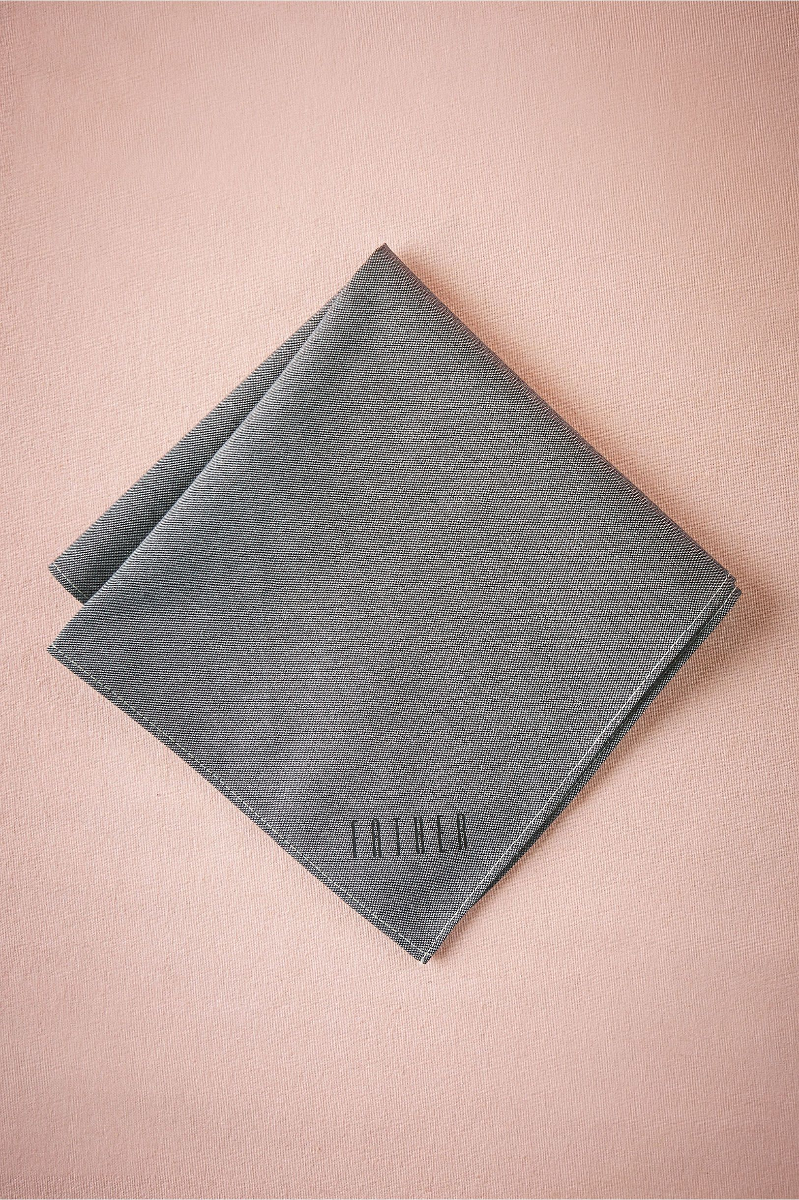 Father Chambray Handkerchief in Décor View All Décor at BHLDN ...