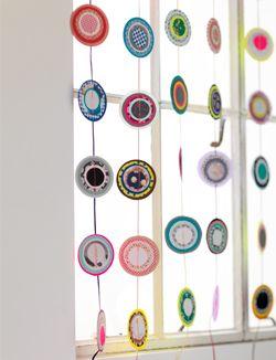 Diy paper curtain zelfmaakidee papiergordijn kijk for Paper curtains diy