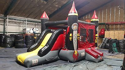 Rocket Bounce House Slide Combo Commercial Grade w Blower Free Ship & Stakes https://t.co/61V6L19xMT https://t.co/I7FA9Lq5NU