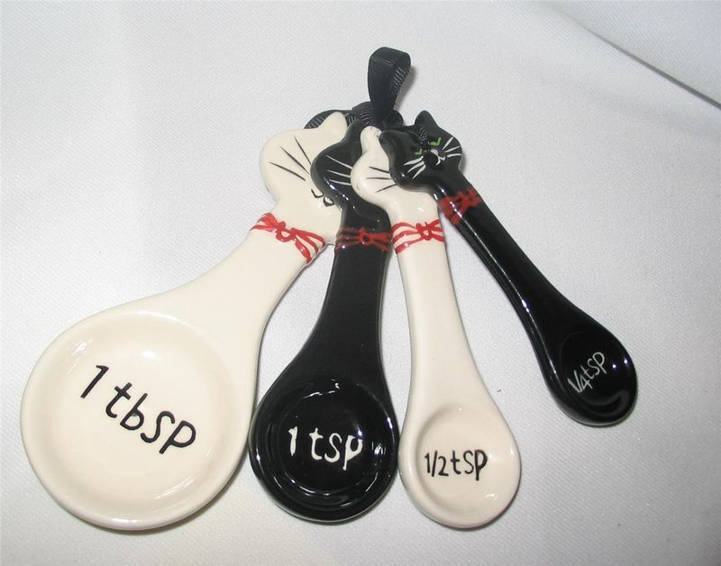 Everything Cat 3 Measuring Spoons Cat Spoon