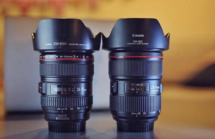 Which One Would You Choose Canon 24 105 F 4 0 L Is Canon 24 70 F 2 8 L Go Follow Canongear Which One Would You Choose Photographer Canon 1dx Mark Ii