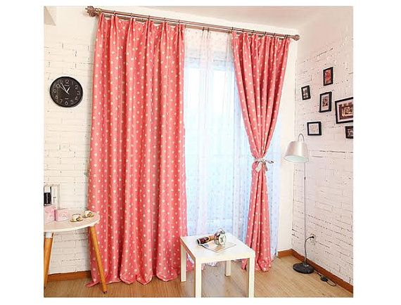 Casual living Blue, Coral & Sage Polka dot day night curtains. Can ...