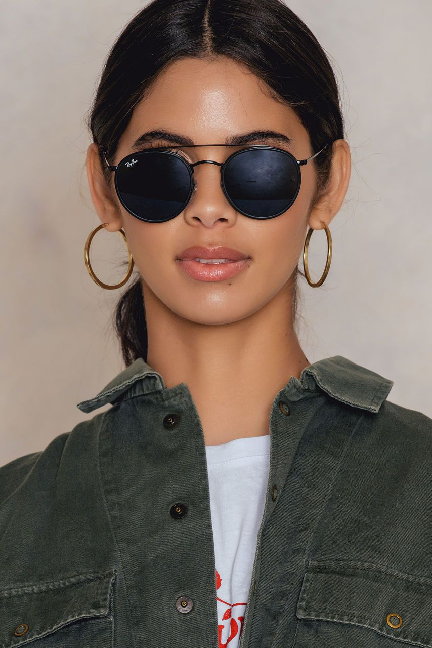 RAY BAN ROUND DOUBLE BRIDGE.  rayban     Clothed. in 2019 ... 472df52d23