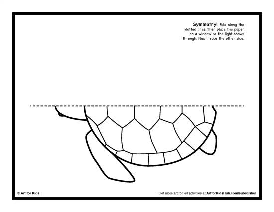 Turtle Grid Draw Symmetry Art Art Activities Symmetry Worksheets