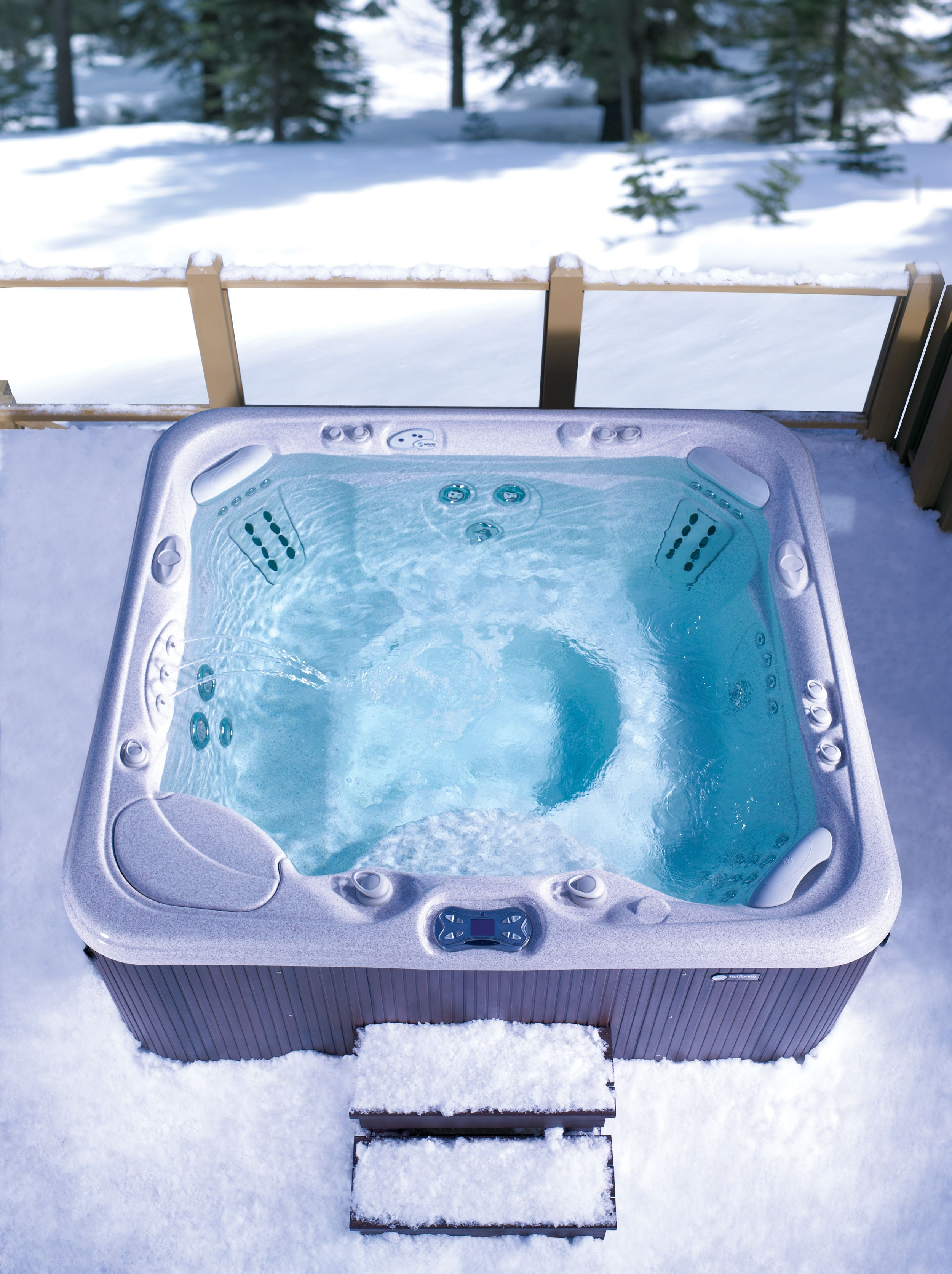 Warm up during winter months with this #HotSpringSpas Grandee hot ...