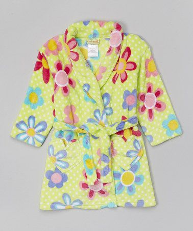 This Green Floral Fleece Robe - Toddler & Girls is perfect! #zulilyfinds