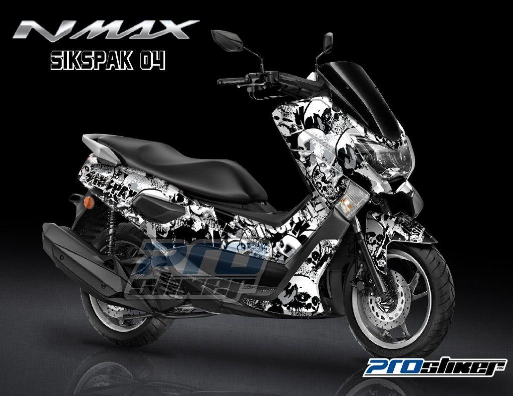 Kumpulan Gambar Modifikasi Striping Yamaha Nmax Warna Putih
