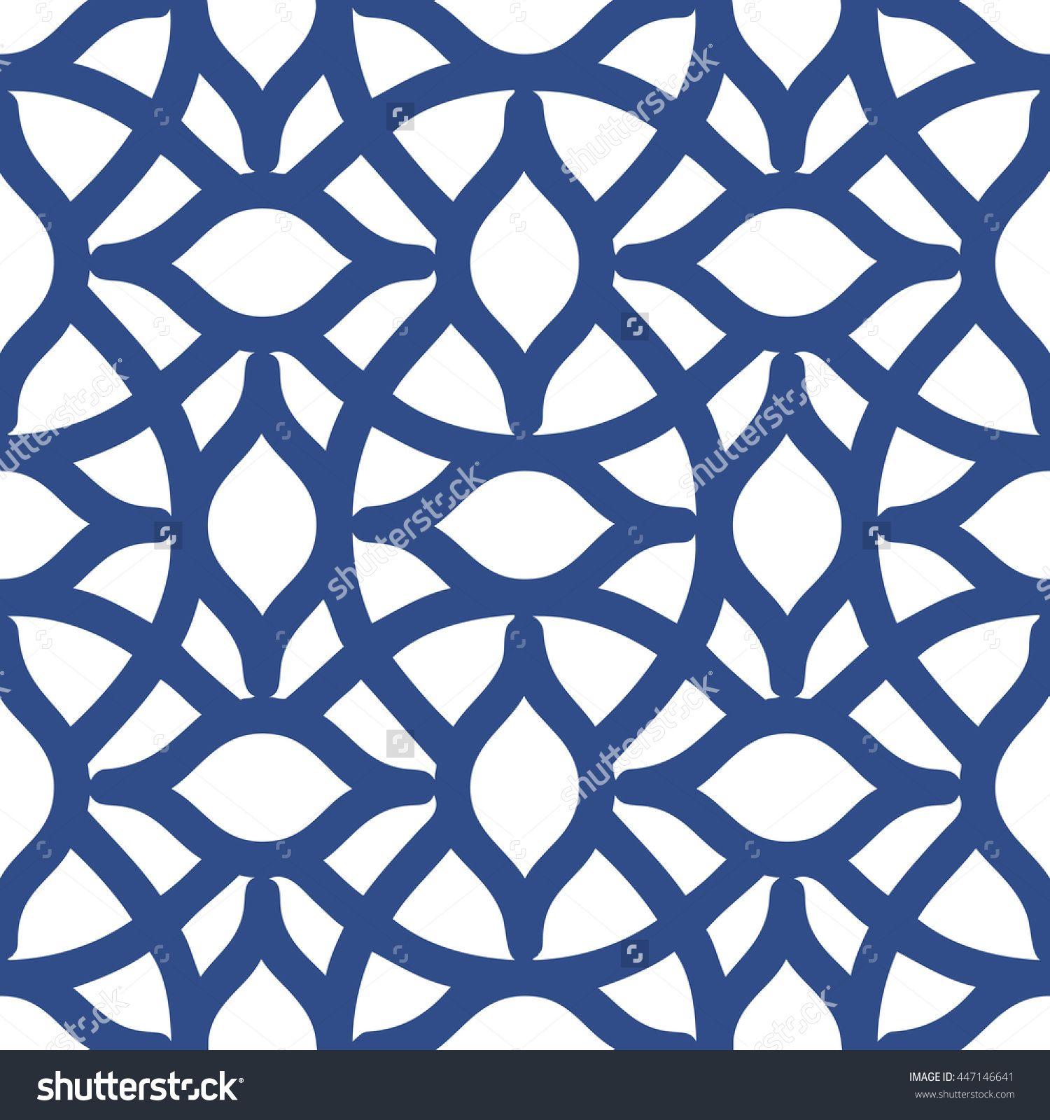Seamless Arabesque Trellis Pattern Background Tile Stock Vector Illustration 447146641 : Shutterstock