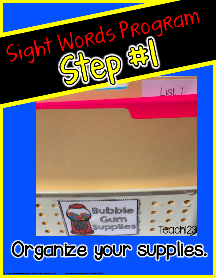 Editable Sight Word Program