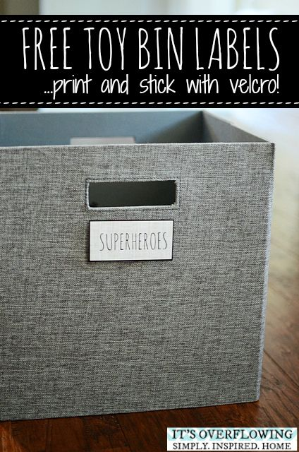 Free Toy Bin Labels And How To Apply Them To Fabric So