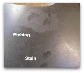 Etching Stains On Honed Absolute Black Granite