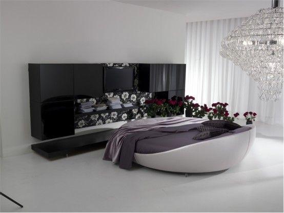 Luxus-schwarz-und-weiß-Schlafzimmer Innenarchitektur Pinterest - schlafzimmer schwarz