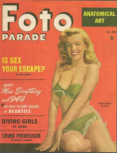 Marilyn Monroe on the cover of Foto Parade magazine.