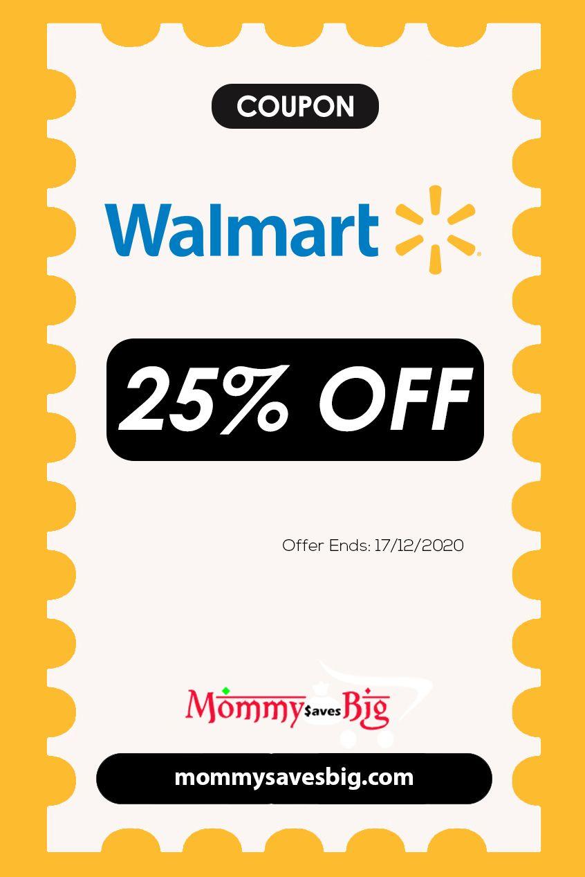 Walmart 25 Off On Walmart Coupon Walmart Coupon Coupons Printable Coupons