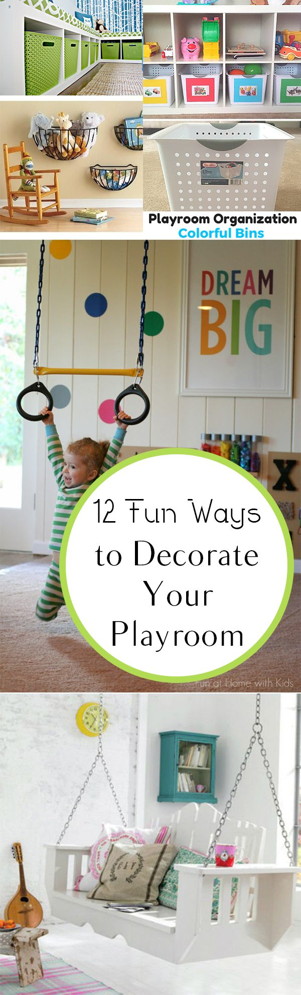12 Fun Ways to Decorate Your Playroom   Playrooms and Decorating