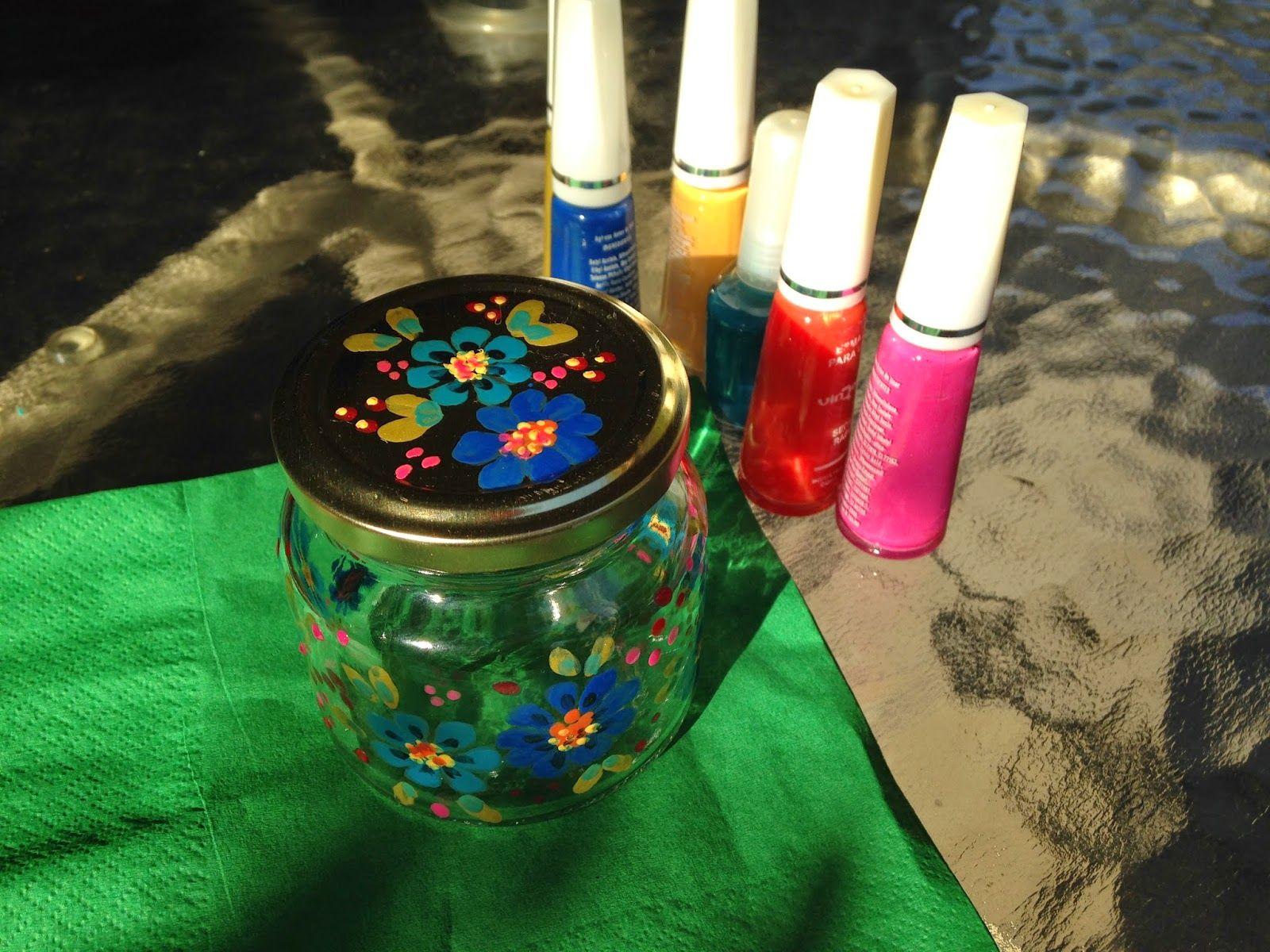 Tutorial Pintando Vidrio con Esmalte de Uñas ~ Disfruta Creando ...