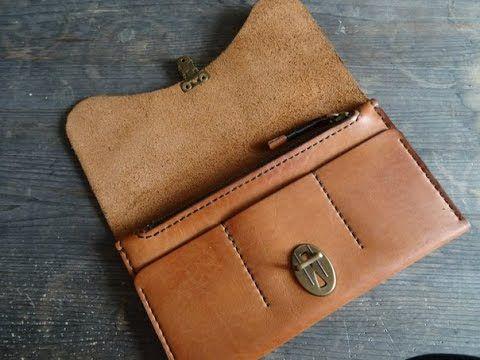 5e35c9b68873 Кожаный кошелек своими руками. классический кошелек. Making leather wallet  // Тамара Попова