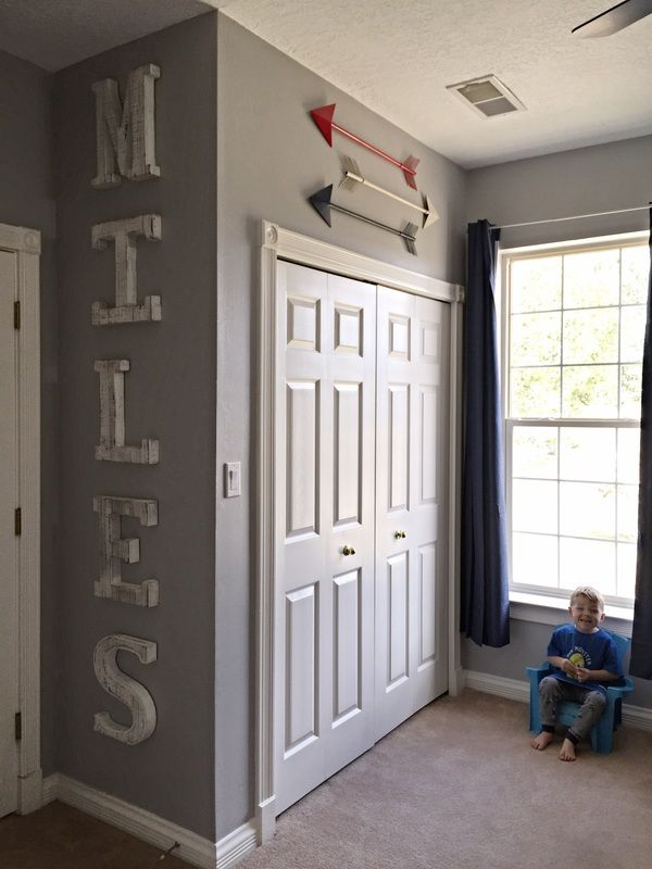 Little Boy Room Toddler Decor Sports Superheroes And Trains Oh My Diy With Tutorial Little Boys Rooms Boys Room Decor Boy Toddler Bedroom