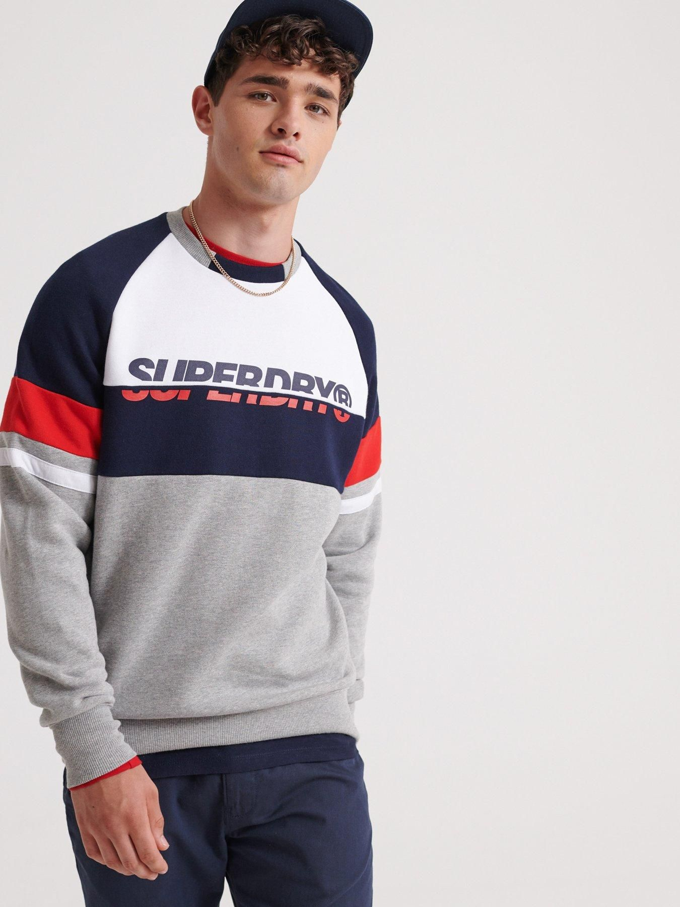 Racer Print Crew Neck Sweater Grey (With images) Long