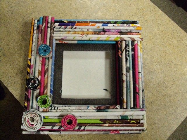 Magazine Craft Frames Easy Craft Ideas Picture Frames The
