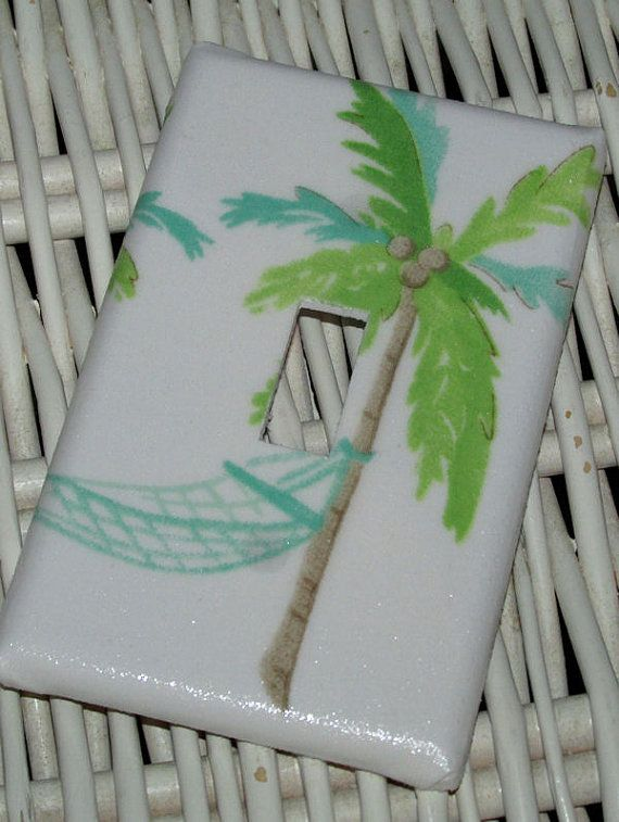 Switchplate Girls Key West Ocean Surf Hawaiian Palm Tree