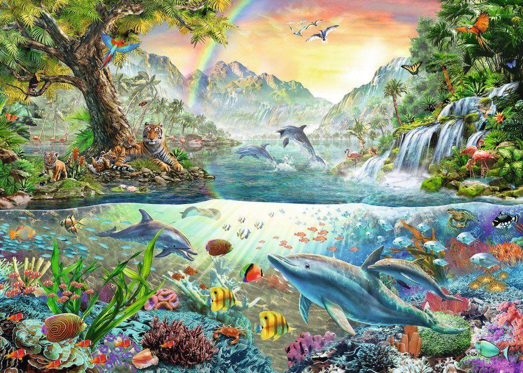 Puzzle Au Paradis Comment Peindre Art De Puzzle Croix Peintes