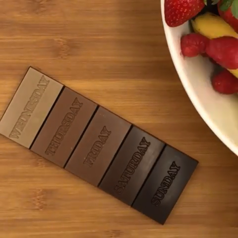 chocolate portion -  The key to chocolate consumption is portion control 😂 ! Love this video by