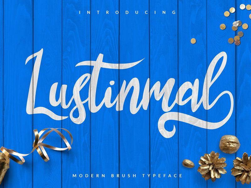 Lustinmal tipografía