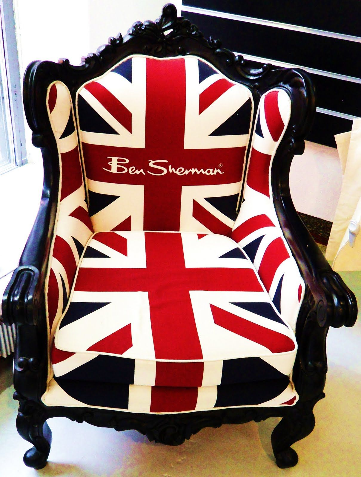 cfbdc5f3249e The Famous Ben Sherman Union Jack Chair | Terribly British in 2019 ...