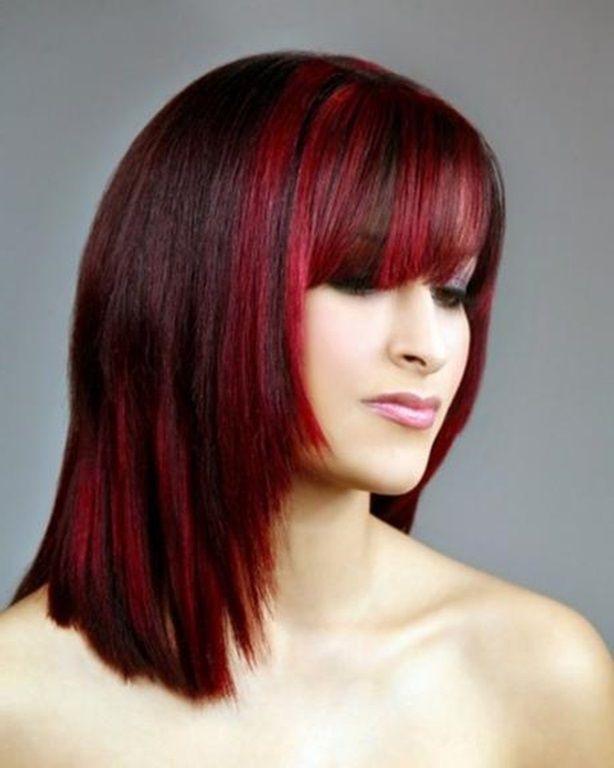 Braune Haare Mit Roten Strähnen Haar Farben Trend Rot 2016