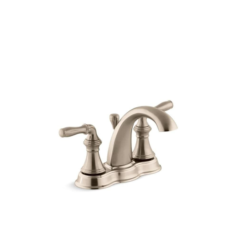 Photo of Kohler Devonshire Centerset Bathroom Sink Faucet with Lever Handles Vibrant Brushed Bronze