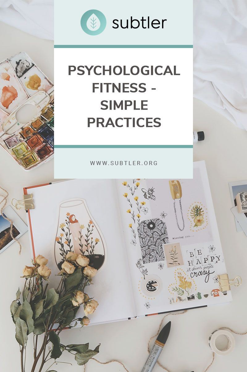 Psychological Fitness Simple Practices in 2020