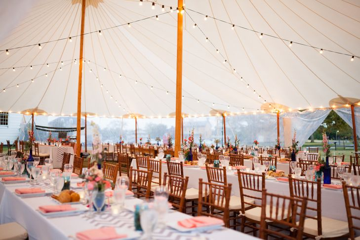 Sail Cloth Tent With Market Lights