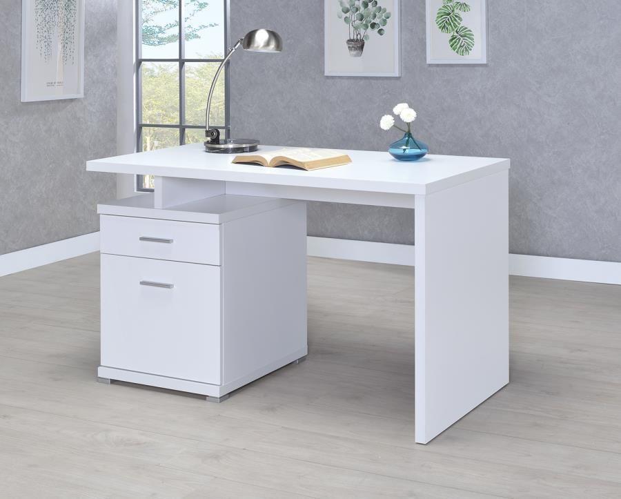 Meilani Collection 800110 White Office Desk Coaster Furniture
