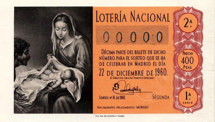 Loteria Navidad 1960 Lotería Nacional Lotería Navidad Lotería