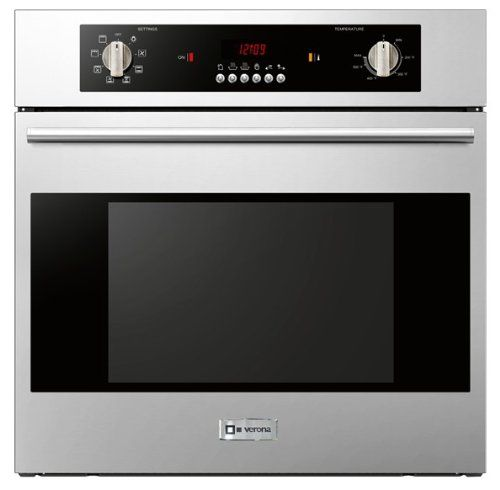 Verona Vebiem241ss 24 Electric 110 Volts Wall Oven With 2 0 Cu Ft Oven Capacity 8 Cooking Functions E Electric Wall Oven Wall Oven Single Electric Wall Oven