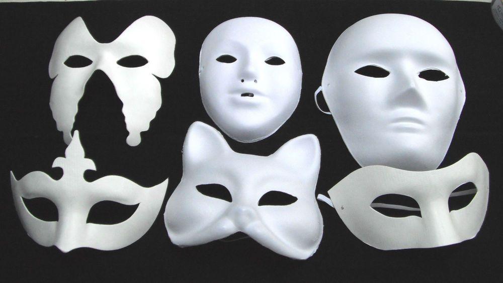 Plain White Masks To Decorate White Mask Plain Masks Fancy Dress Masquerade Party Halloween